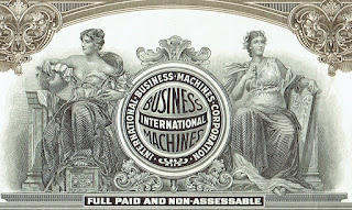 The IBM logo on this stock certificate was used from 1924 till 1946 .