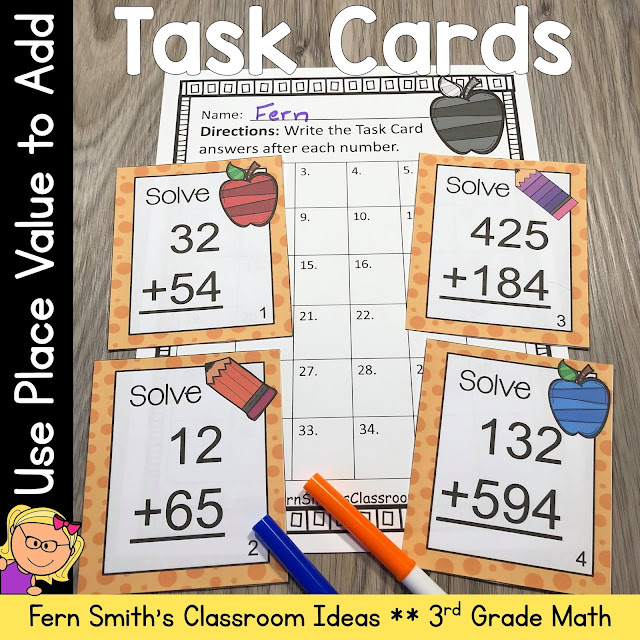 Click Here to Download this Use Place Value to Add Task Cards Resource for Your Classroom Today!