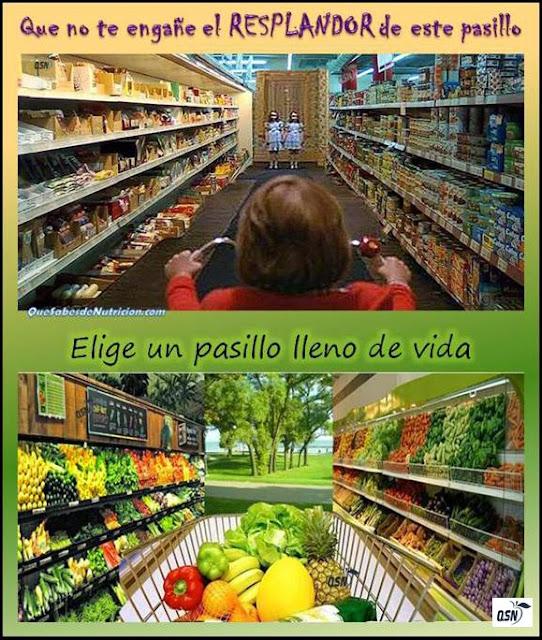 QSN: Cambia tu alimentación. Deja los procesados y llena de vida y color tu comida.
