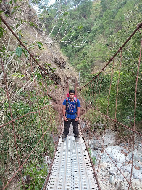 One of the hanging bridges in Sta. Fe exit point