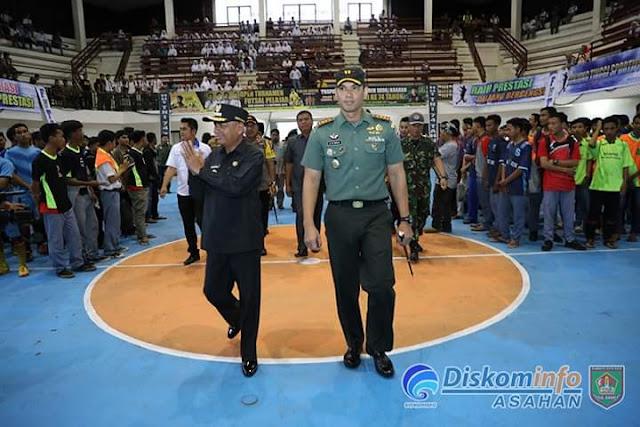 Turnamen Futsal Pelajar Pial Dandim 0208 Asahan Resmi Digelar
