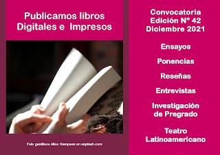 Convocatoria : recibimos textos para la Edición Nº 42 y para la publicación de libros digitales e impresos