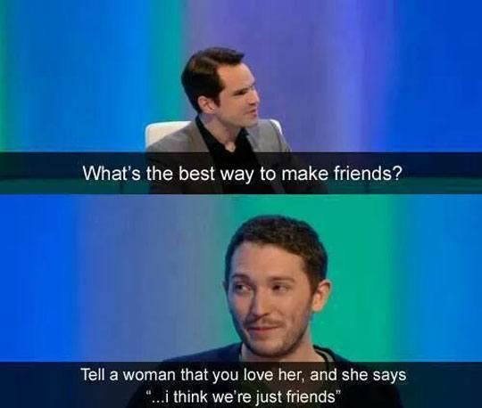La mejor manera de hacer amigos