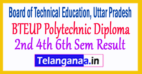 BTEUP Polytechnic Diploma 2nd 4th 6th Sem Result 2018