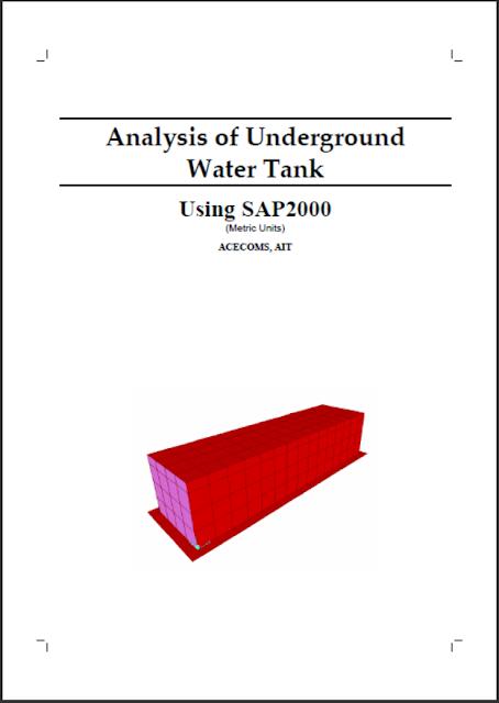 Design of Underground Water Tank Using Sap2000