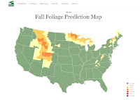 The 2021 Fall Foliage Map - And Explanations of Why Leaves Change Colors
