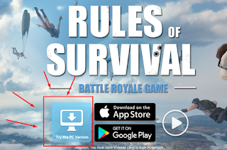 Cara Main  RULES OF SURVIVAL di PC