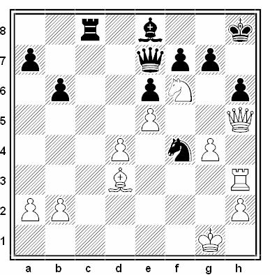 Posición de la partida de ajedrez Vinogradov - Fedin (Moscú, 1973)
