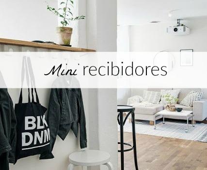 5 ideas para mini recibidores - Blanco y de madera