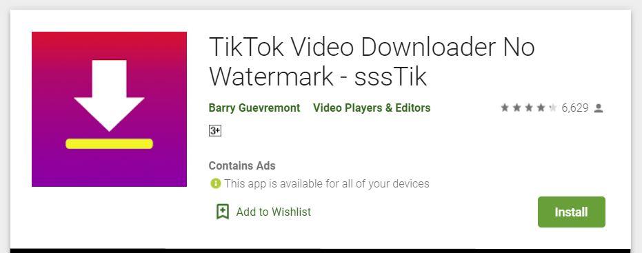 aplikasi tiktok video downloader