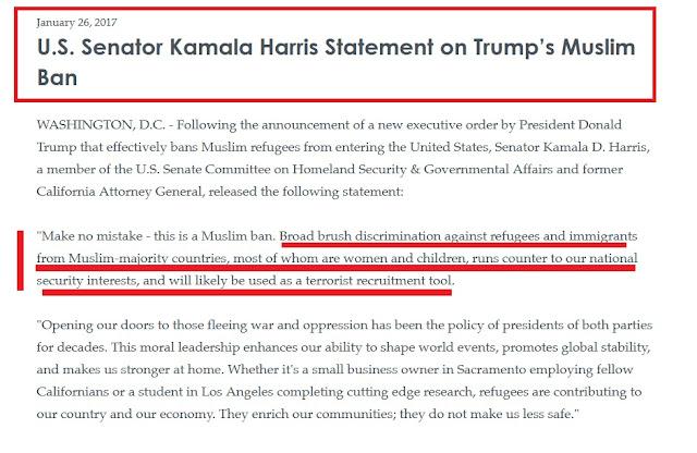 """Αντιπρόεδρος Μπάιντεν: """"Η απαγόρευση εισόδου μουσουλμάνων στις ΗΠΑ, σε αντίθεση με τα εθνικά μας συμφέροντα ασφάλειας"""""""