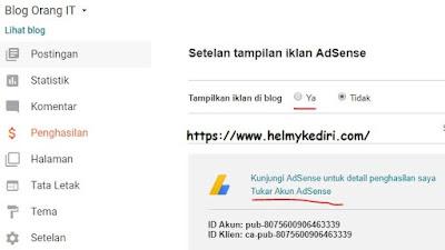 Situs anda tidak terhubung ke adsense