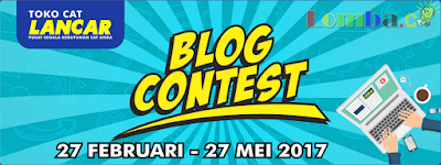 Lomba BlogContest Bersama Toko Cat Lancar 2017