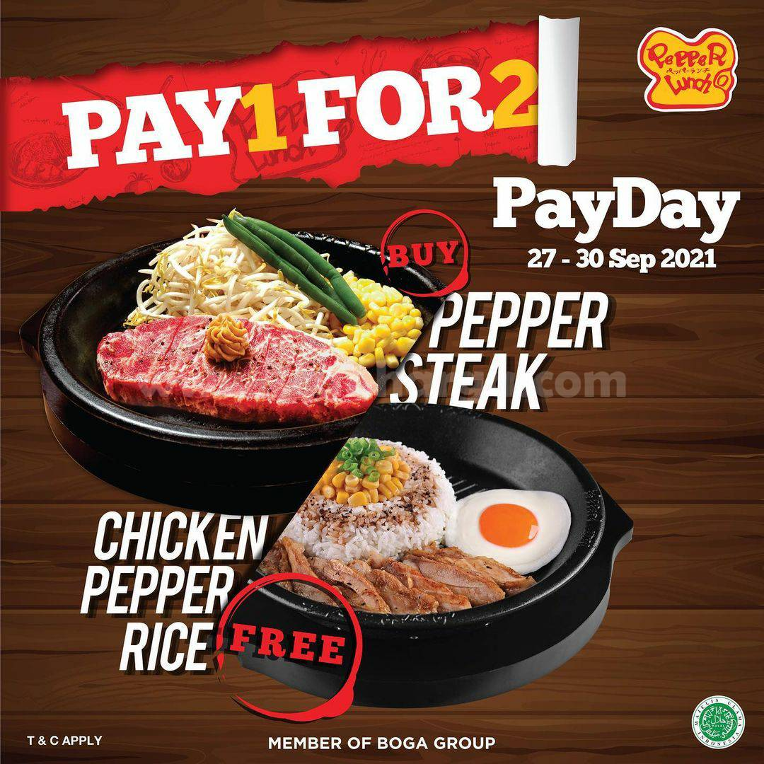 Promo Pepper Lunch 27-30 September 2021 Payday Pay 1 For 2