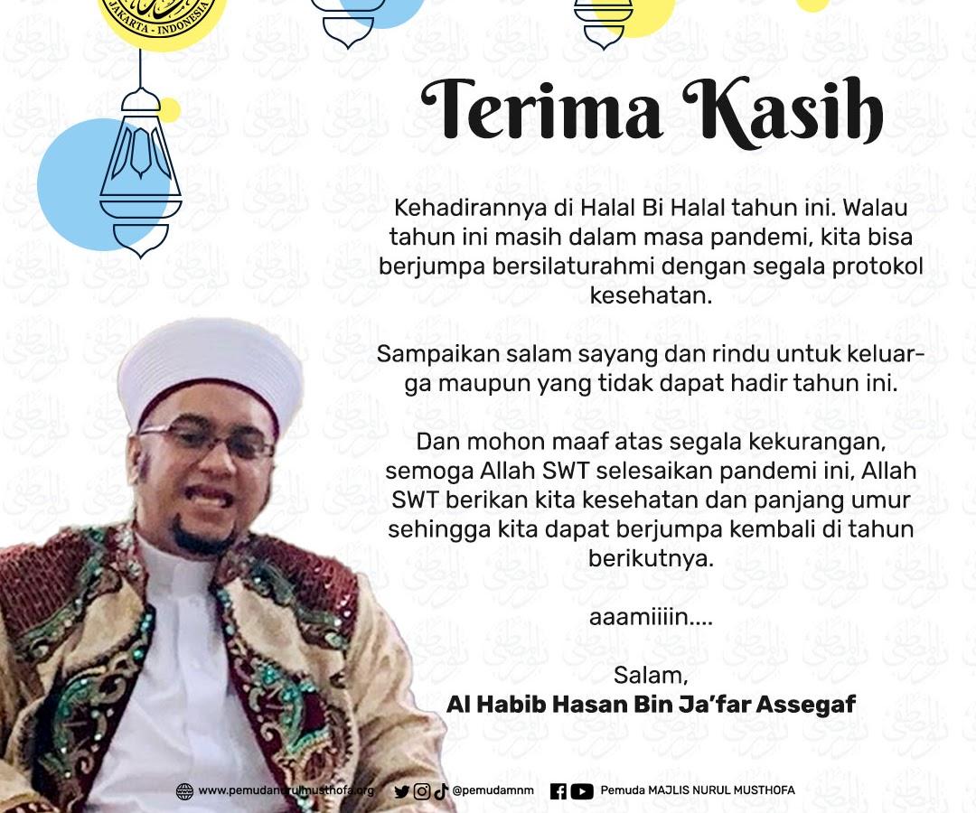 Habib Hasan: Terima Kasih Kehadirannya di Halal Bi Halal