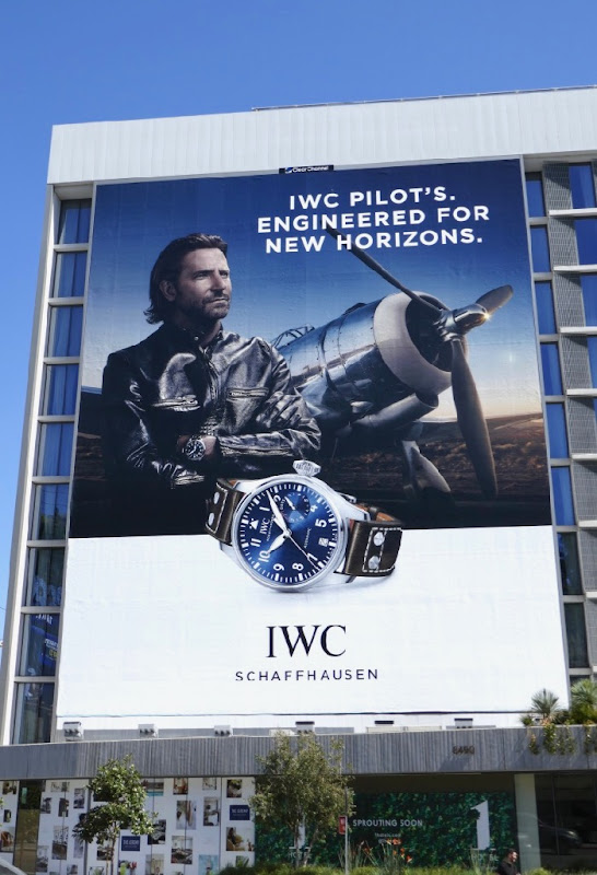 Bradley Cooper IWC Pilots watch billboard