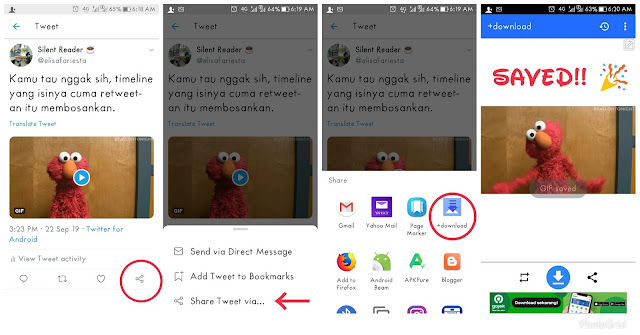 review aplikasi android +download: Cara Mudah Download Gif dan Video di Twitter