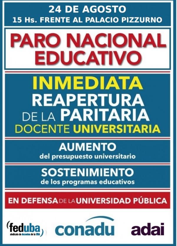 PARO, ESTUDIANTES