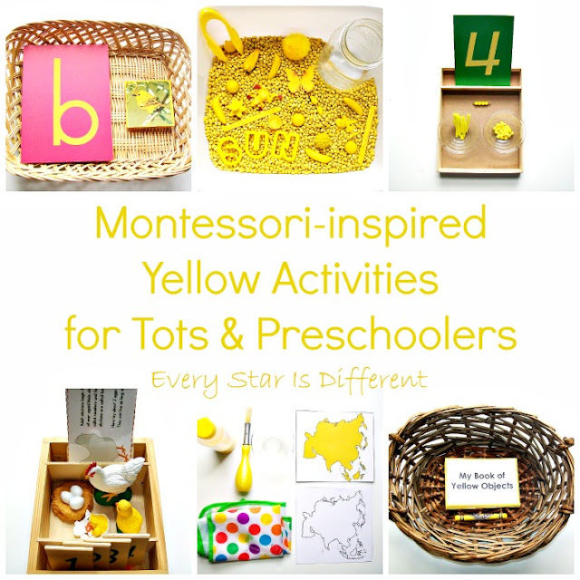 Montessori-inspired Yellow Activities for Tots and Preschoolers