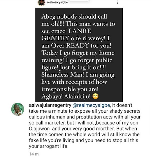 Mercy Aigbe And Her Husband Fight