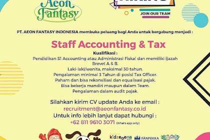 info Lowongan Kerja Staff Accounting Tax Aeon Fantasy