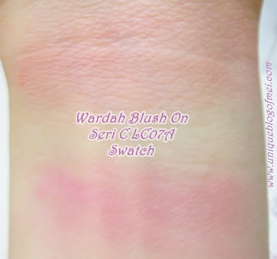 Wardah Youniverse Playful Serene Look Blush on swatches