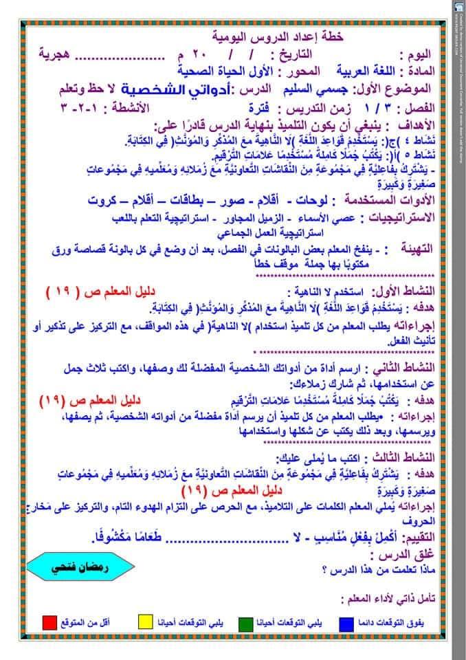 تحضير دروس نافذة اللغة العربية للصف الثالث الابتدائي  أ / رمضان فتحي 12
