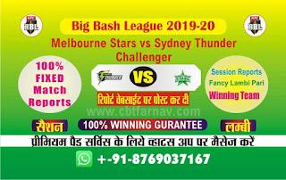 Melbourne Stars vs Sydney Thunder Big Bash Challenger 100% Sure Prediction