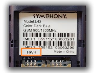 symphony l42 hw4 flash file
