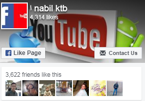 page facebook blogger