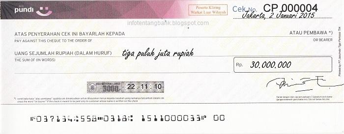 Contoh Cek Bank Bri Yang Asli Contoh Kr