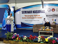 Saat Seminar, Rektor IBI Darmajaya Harap Acara Ini Membawa Keberkahan