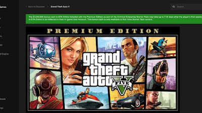 How to download GTA Five V for free for PC laptop  from the Epic Games Store
