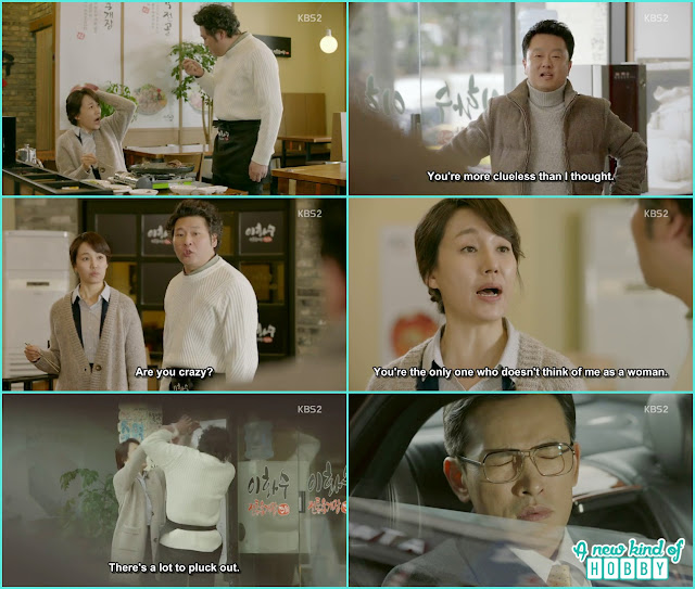 resturant Ajusshi pluck Young OK grey hairs - Uncontrollably Fond - Episode 15 Review