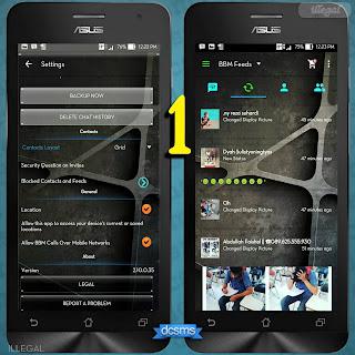 BBM Mod Transparan Terbaru Gratis