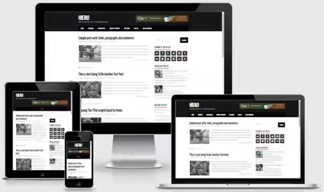 Hiero Blogger template fast loading responsive