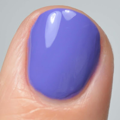 purple nail polish close up swatch