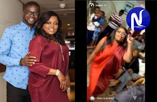 Funke akindele house party arrest as police hunt for husband and other guests
