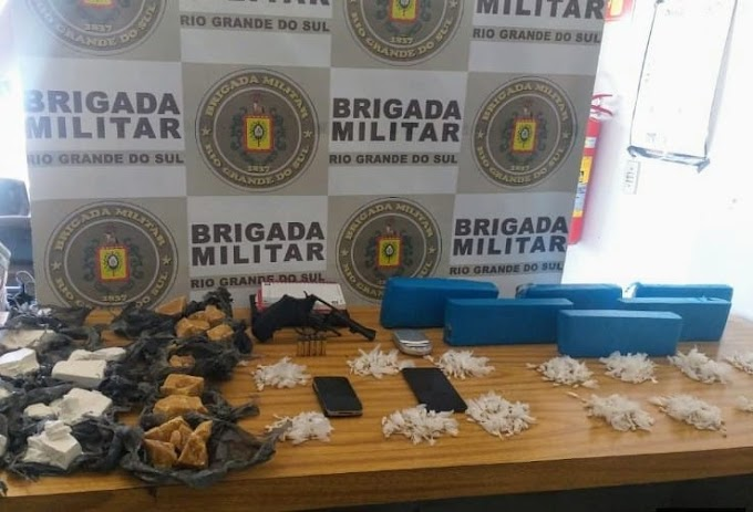Brigada Militar apreende mais de 6 quilos de drogas no Rincão da Madalena em Gravataí