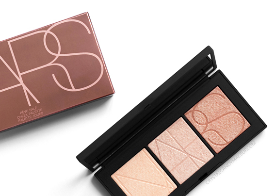 NARS Rêve Salé Cheek Palette Review Photos Swatches Highlighting Powders Easy Glowing