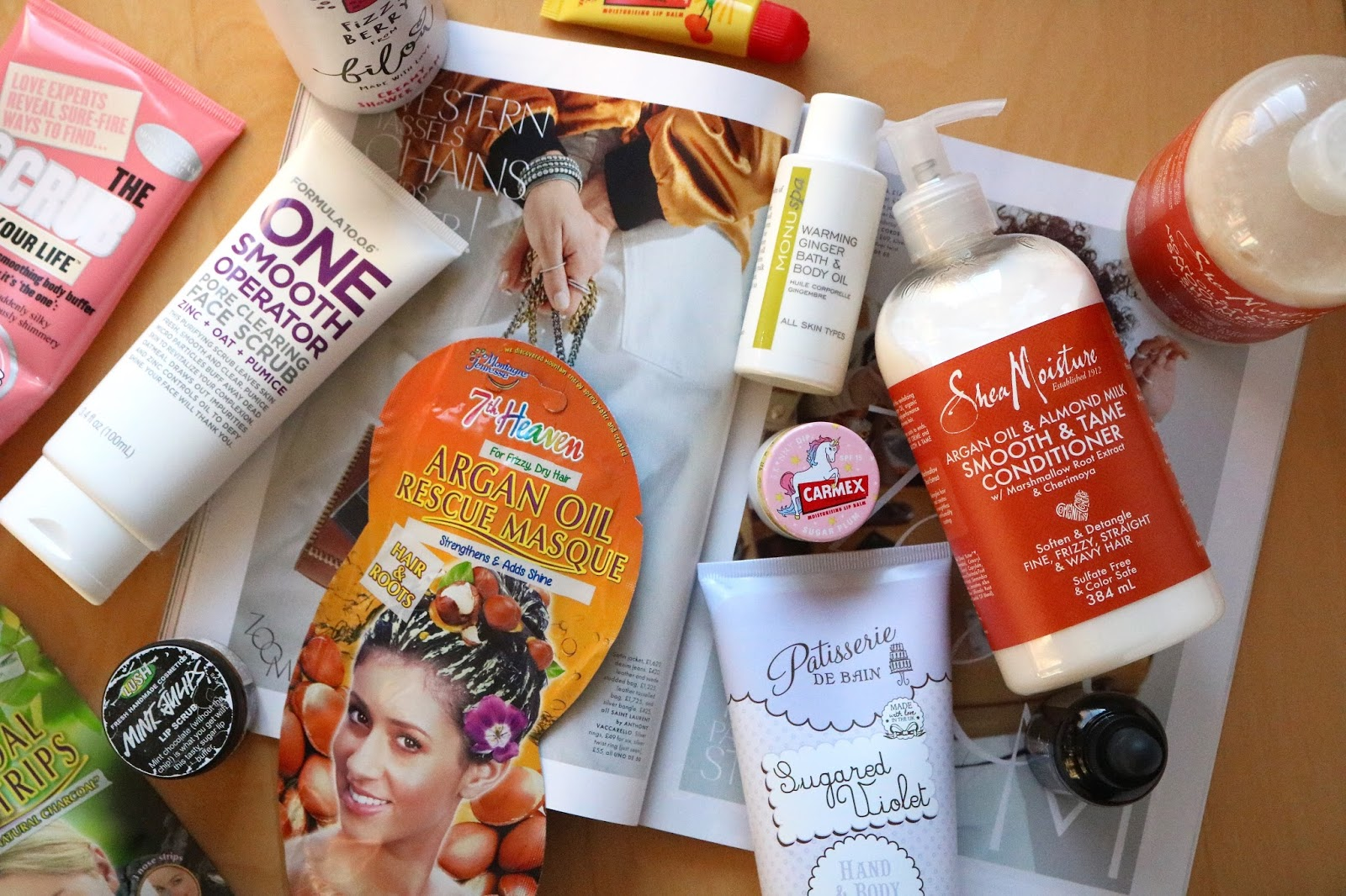 My Post-Travel Pamper products