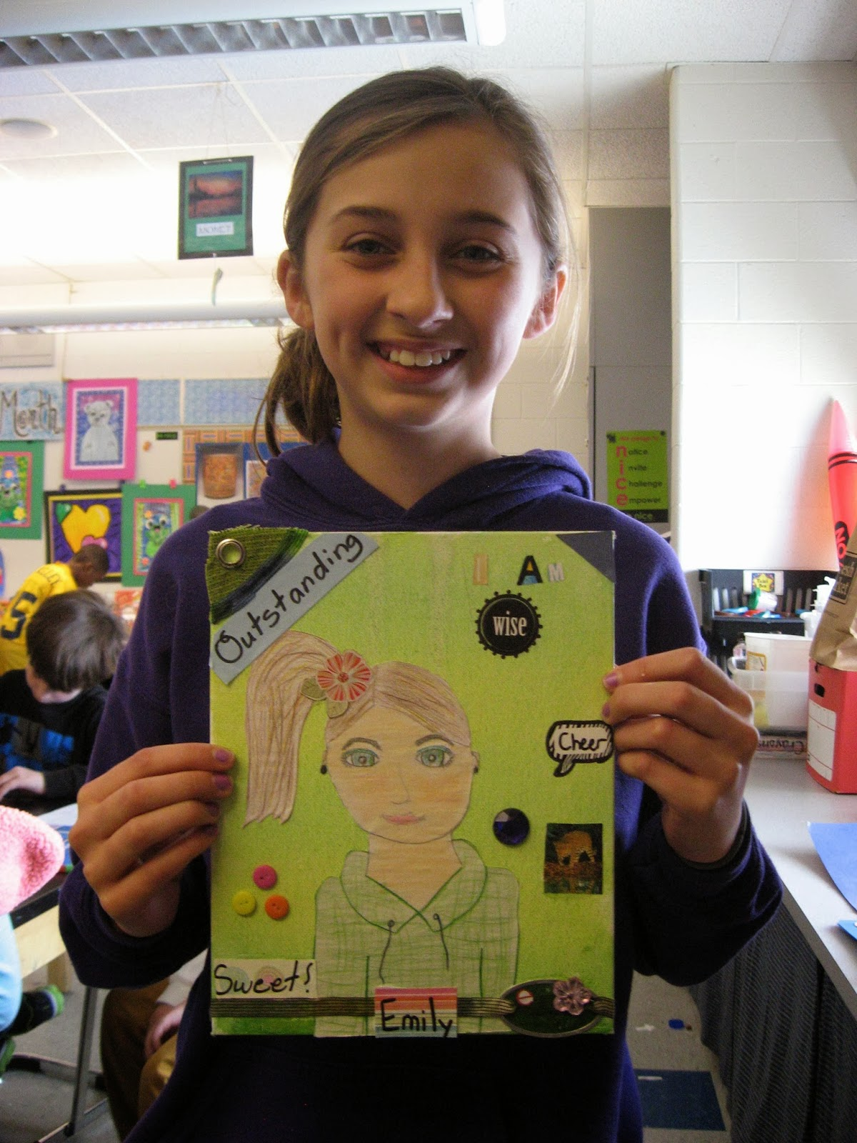 Jamestown Elementary Art Blog Reporting What I Learned About Self Portrait Collage