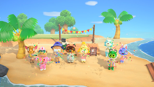 Sharing my Animal Crossing island with my girlfriend.