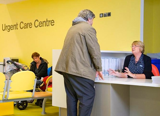 Image of urgent care centre courtesy of the CCG