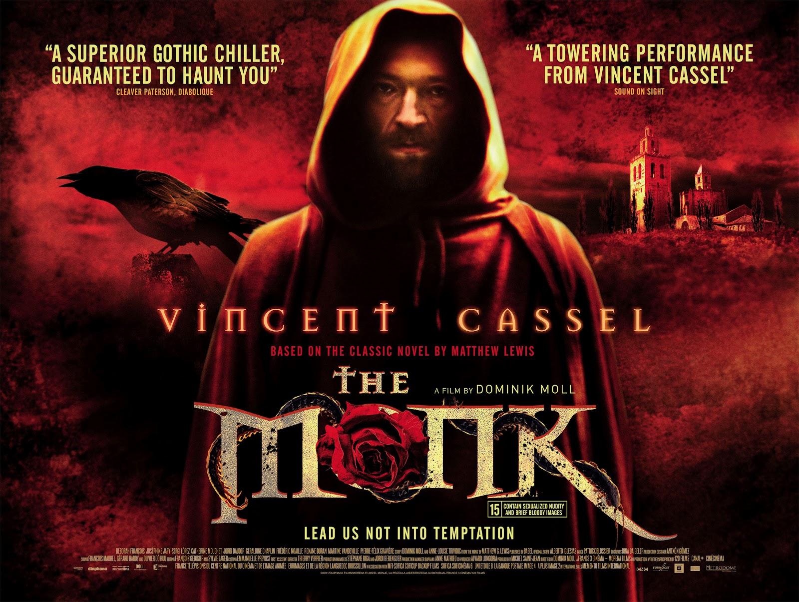 the uk trailer for the monk le moine starring vincent cassel. Black Bedroom Furniture Sets. Home Design Ideas
