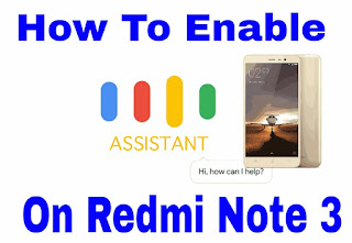 enable google assistant on redmi note 3