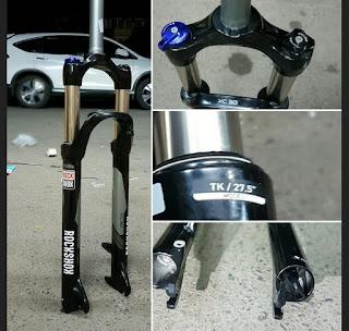 Fork 27.5 Rockshox XC30 travel 100 - 120 Lock Rebound