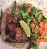 Chicken, Salad, Rice