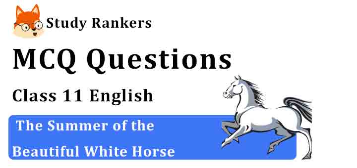 MCQ Questions for Class 11 English Chapter 1 The Summer of the Beautiful White Horse Snapshots