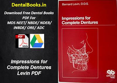 Impressions for Complete Dentures Levin PDF Download